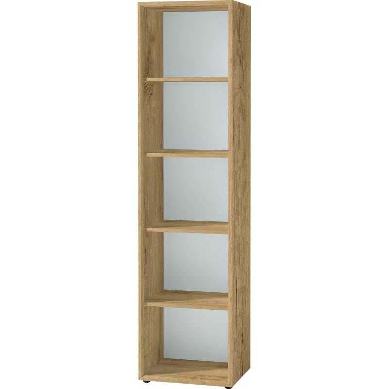 etagere colonne couleur blanc et bois next