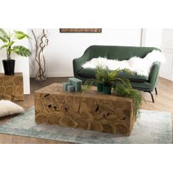 table basse nature rectangulaire 120 x 60 cm en teck forest