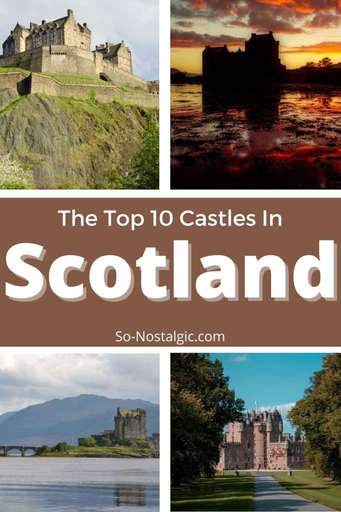 Top 10 Scottish Castles - a list of the best castles to visit when visiting Scotland. There are so many to choose from, and all are different. This post discusses a little bit about the history and main features of each., so you can decide which of these stunning places to visit on your next trip to Scotland