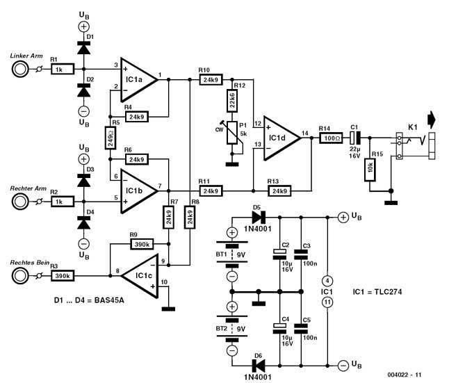 diy ecg amplifier