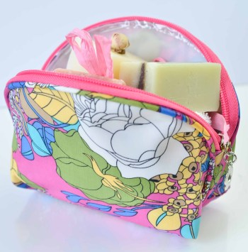 small cosmetic or makeup bag