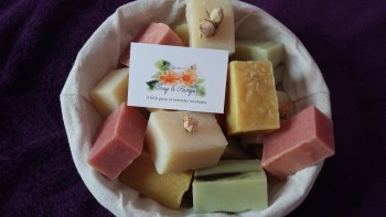 Basket of natural soaps
