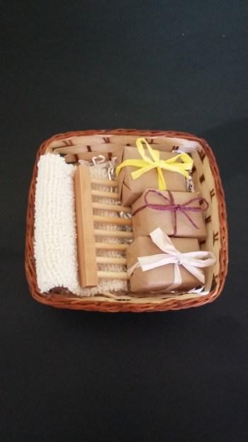 Pamper Basket of soap & accessories