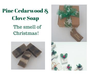 Christmas Soaps - Pine, Cedarwood & Clove