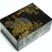 蒔絵 月に葡萄 箱/Makie lacqer box
