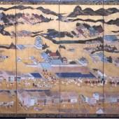 洛中洛外 祇園祭図 六曲一双/Gion festival screen