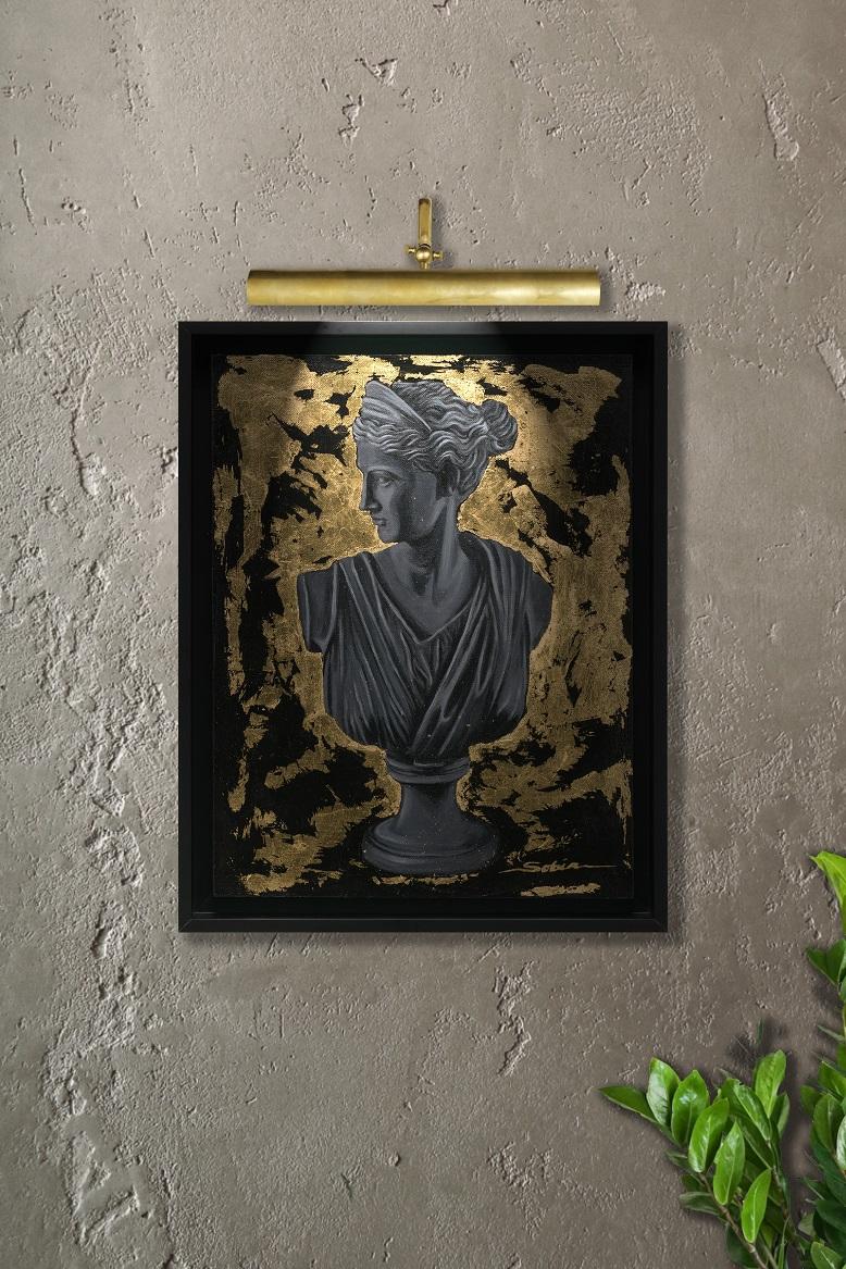 Sobia Shuaib - Queen's Gambit 14x18 lamp
