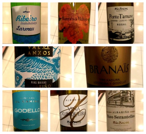 Vinos blancos gallegos en el lineal de Mercadona