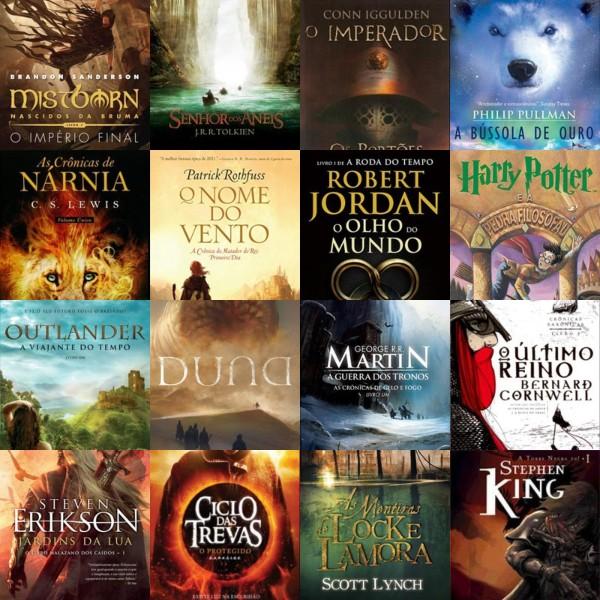 Colagem de Livros