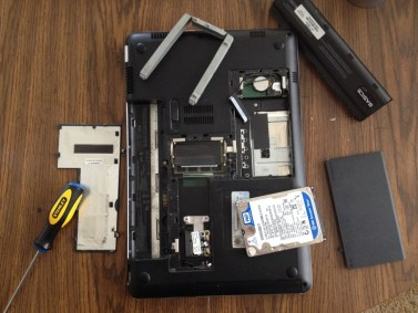 Inside the Hard drive compartment