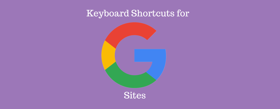 Mac Shortcuts for Google Sites