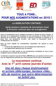 ATOS : Tous à fond… pour nos augmentations en 2010 !