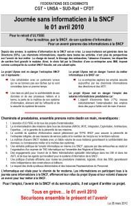 Journée sans informaticien à la SNCF le 1 avril 2010