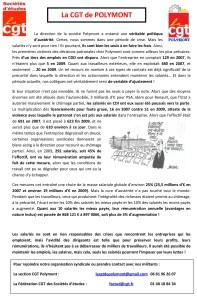POLYMONT : Austérité pour les salariés et augmentation pour les nantis