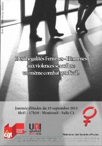 Journée d'études : Des inégalités Femmes-Hommes aux violences sexuelles : un même combat syndical !