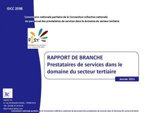 Rapport de branche prestataires Février 2014