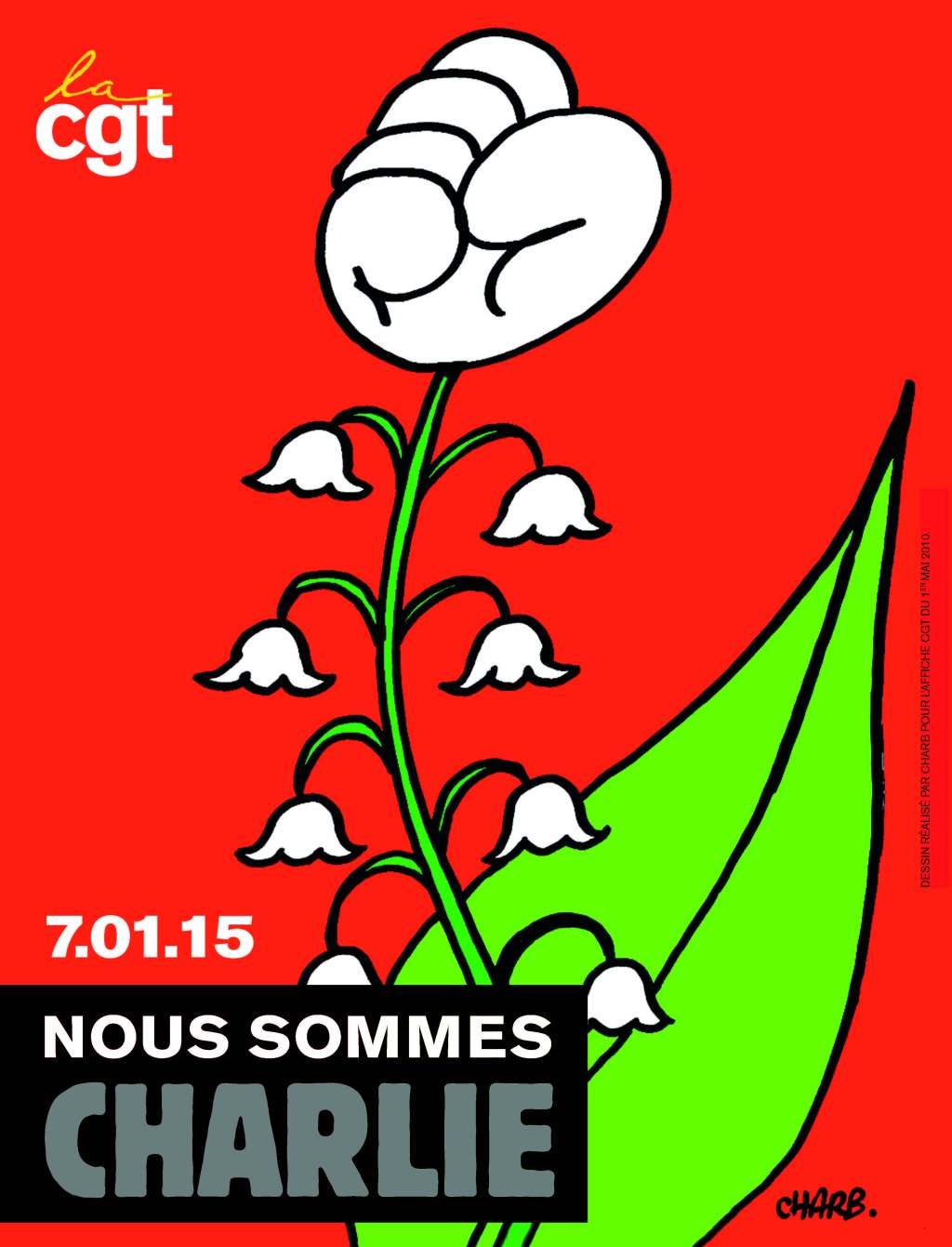 """Affiche CGT """"Nous sommes CHARLIE"""""""