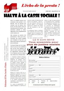L'écho de la presta n°30 : Halte à la casse sociale !