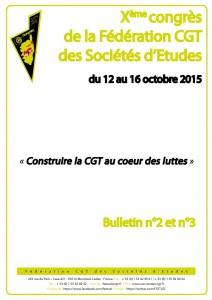 10e Congrès : Bulletin n°2 & 3