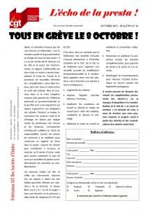 L'écho de la presta n°36 : Tous en grève le 8 octobre !