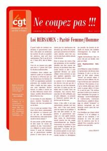 Ne Coupez Pas n°33 : Loi Rebsamen : Parité Femme/Homme