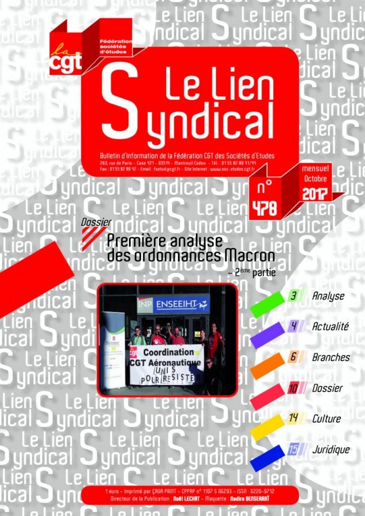 Le lien syndical n°478 – octobre 2017
