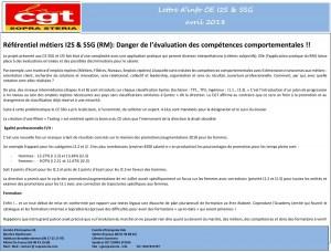 SOPRA-STERIA : Lettre d'info CE I2S & SSG – Avril 2018