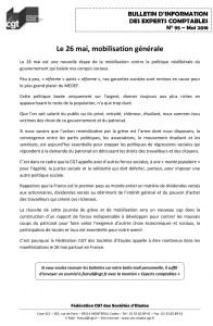 Bulletin d'information CGT Experts Comptables N°95