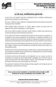 Bulletin d'information des bureaux d'études n°131