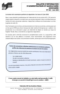 Bulletin d'information CGT Administrateurs Mandataires Judiciaires n°103