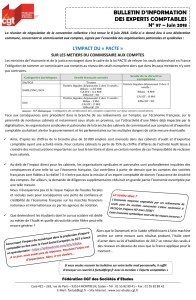 Bulletin d'information CGT Experts Comptables N°97