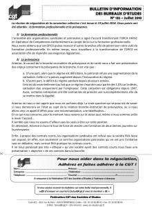 Bulletin d'information des bureaux d'études n°135