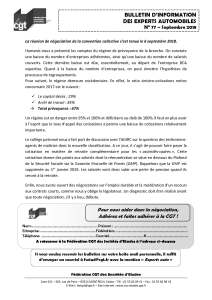 Bulletin d'information CGT n° 77 Experts autos