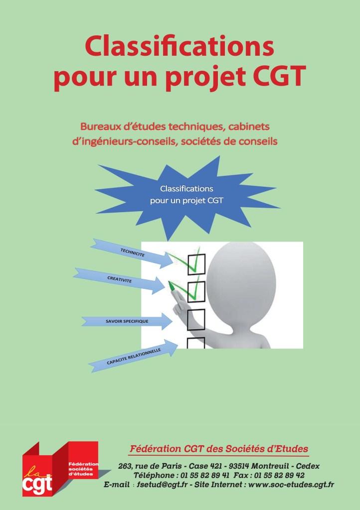 Classifications pour un projet CGT