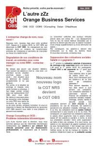 ORANGE BUSINESS SERVICES : L'autre ZZZ – Novembre 2018