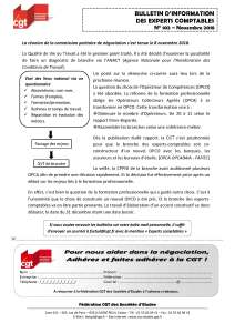 Bulletin d'information CGT Experts Comptables N°102