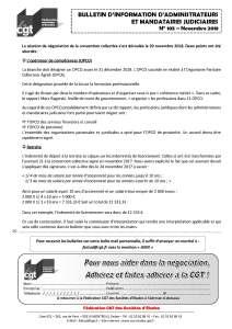 Bulletin d'information CGT Administrateurs Mandataires Judiciaires n°105