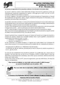 Bulletin d'information des bureaux d'études n°137