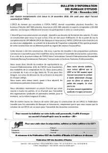 Bulletin d'information des bureaux d'études n°138