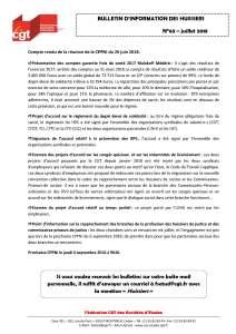 Bulletin d'information CGT Huissiers de justice n°63
