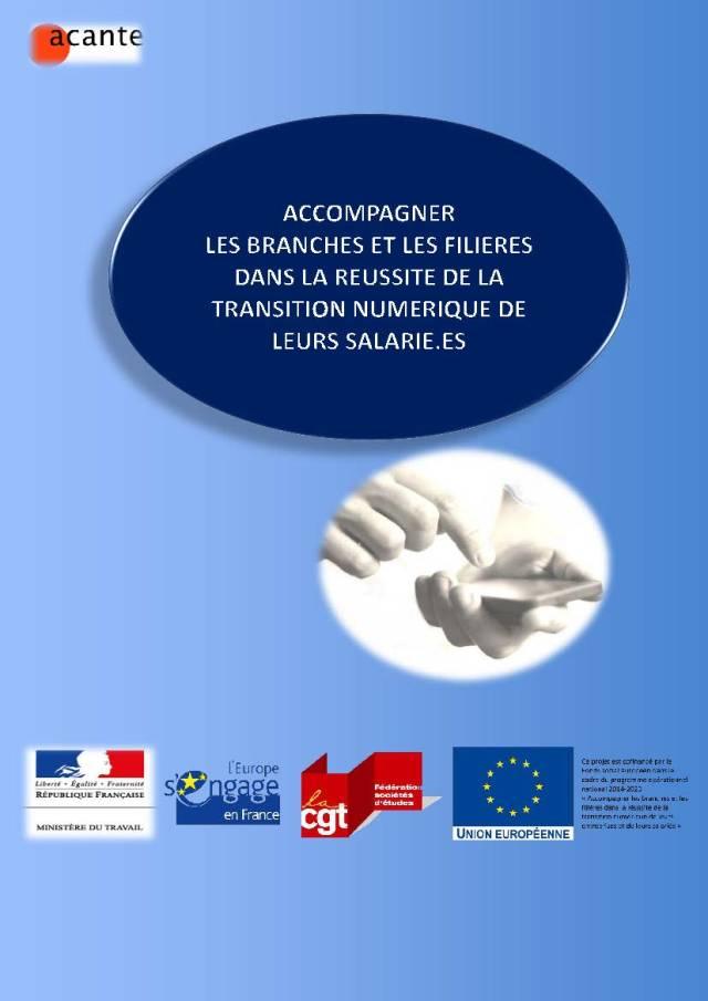 Accompagner les branches et les filières dans la réussite de la transition numérique de leurs salarié.es