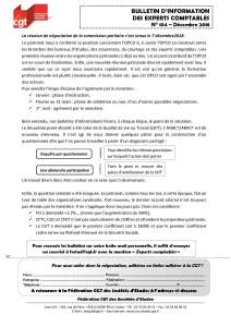 Bulletin d'information CGT Experts Comptables N°104