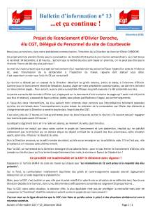 POLYMONT IT SERVICES : Bulletin d'information n°13