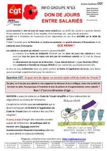 APAVE : Info groupe n°63
