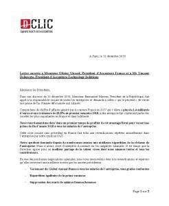 Lettre ouverte à Monsieur Olivier Girard, Président d'Accenture France et à Mr Vincent Delaporte, Président d'Accenture Technology Solutions