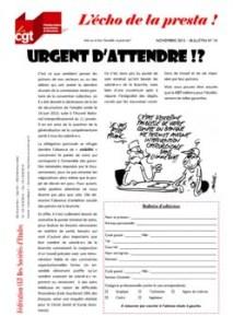 L'écho de la presta n°14 : Urgent d'attendre !?