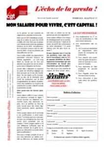 L'écho de la presta n°17 : Mon salaire pour vivre, C'est capital !