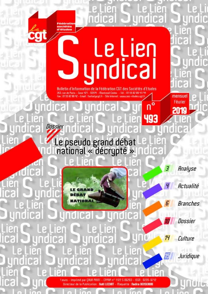Le lien syndical n°493 – Février 2019