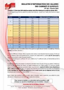 Bulletin d'information des salariés des cabinets d'avocat n°128