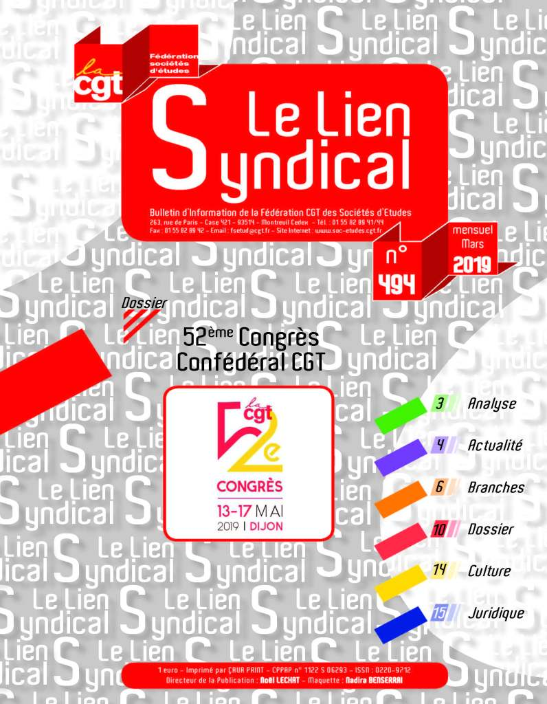 Le lien syndical n°494 – Mars 2019